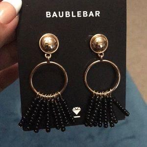 BaubleBar gold and black earrings